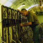 Mel checking on the lions during the Lion Ark airlift from Bolivia to Colorado.
